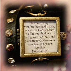 SCRIPTURE MEMORY BRACELET W/INSERTS THICK BAND